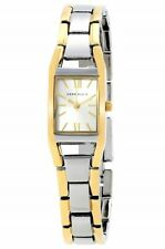 Anne Klein Women's Watch, Silver and Gold-Tone Band, Rectangular Case, NWT