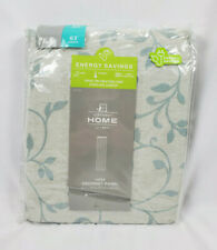 """JCP Home Anza Vine Pattern Abyss Green Lined Grommet-Top Curtain Panel, 50""""x63"""""""