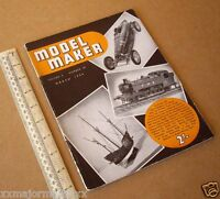 Model Maker Retro Hobby Mag RTP Cars, Boats, Yachts, Railways March 1954 Vintage