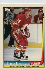 Theo Fleury 1991-92 Topps Team Scoring Leaders #14 Calgary Flames