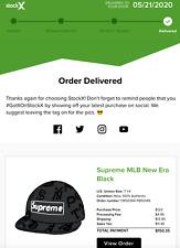 Supreme SS20 New Era MLB Black Baseball Hat Size 7 1/4
