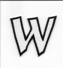 "2"" Letter W Embroidered Iron On Alphabet Patch wx0019"