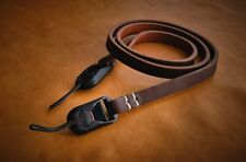 C.K Mike handcrafted camera strap with Peak Design anchors.