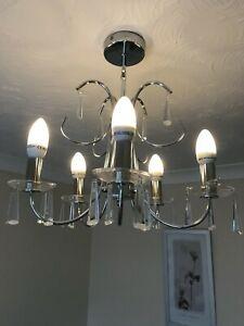 Crystal Ceiling Chandelier Light - Chrome