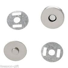 20 Sets Silver Tone Magnetic Purse Snap Clasps/ Closure Purse Handbag 14mm Dia
