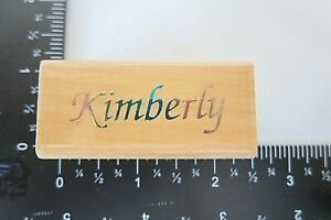 Rubber Stamp First Name Kimberly Uptown Cursive Writing