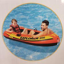 Intex Explorer 200 Inflatable Boat Lake Water Raft 73in x 37in x 16in Orange New