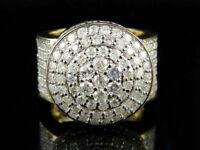Men's 14k Yellow Gold Finish 3 CT Round Diamond Lollipop Dome Wedding Pinky Ring