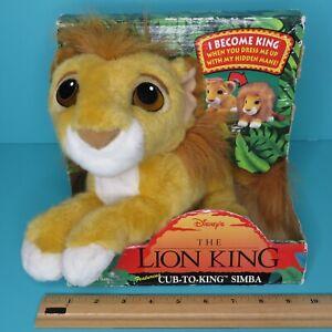 Disney Mattel Lion King Cub To King Simba Plush Changes To Adult Mane Vintage