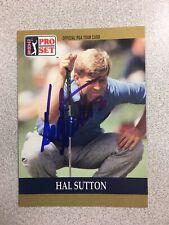 Hal Sutton 1990 Pro Set autographed auto signed card