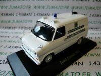 PUK3 voiture 1/43 CORGI ATLAS POLICE CARS : FORD Transit Metropolitan Police