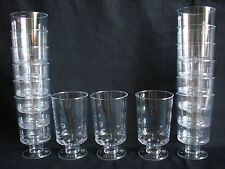 Set of 15 Plastic Transparent Clear Shot Glasses on Legs. 100ml (3.5 oz). NEW