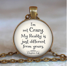 NEW DIY Vintage i'm not crazy Cabochon Bronze Glass Chain Pendant Necklace YG230