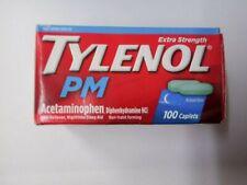 Tylenol PM Strength 500 mg+ 25 mg 100 Caplets Pain Reliever Exp 05/2020NIB