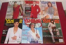 Job Lot 6 VOGUE PATTERNS MAGAZINES 2002 Fashion Lifestyle Chic