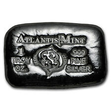 1 oz Silver Bar - Atlantis Mint (Zodiac Series, Pisces) - SKU #103355