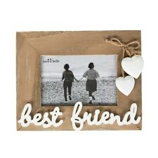 Best Friend Photo Frame Wooden Hearts Rope Picture Hanging Present Birthday Gift