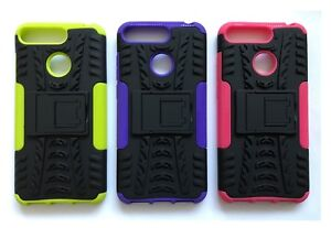 Shock Proof Heavy Duty Armour Hybrid Case Cover For Various Huawei Mobile Phones