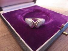 Hübscher 925 Silber Ring Defekt Blau Designer Hippie Goa Alternativ Für Bastler