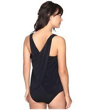 Magicsuit Miraclesuit Tankini Swimsuit Size 10 Black Brown Floral 2 PC