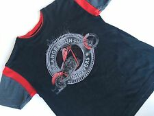 Ragazzi Black Orange County Choppers T Shirt OCC Top 10-11 Y TEE RARO MOTO