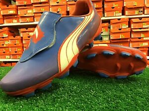 Puma Womens V4.11 I FG Soccer Cleats Blue / Hot Coral / White Size 11 New In Box