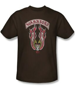 Adult Coffee Brown Action Drama Movie The Warriors Gang Emblem T-shirt Tee