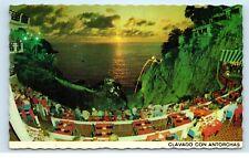*Clavado Con Antorchas La Perla Night Club Diver Acapulco Mexico Postcard B28