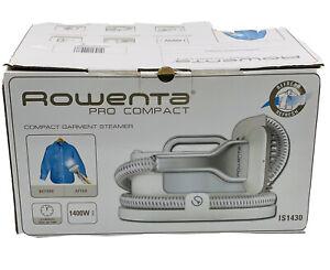 NIB ROWENTA PRO COMPACT GARMENT 1400 Watt STEAMER IS1430