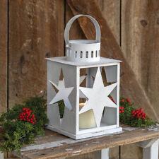 Country Pillar Candle Star Lantern- Primitive Farmhouse Decor