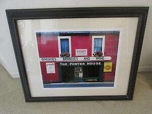 Whiskies Brandies Wine Porter House Framed Art Print Wall Picture Locke Heemstra