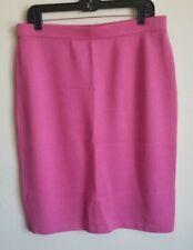 NWOT St. John Collection Pink Knit Skirt Medium 8 Professional Knee Length
