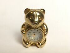 Metal Bear Clock Gold Colour Quartz Working