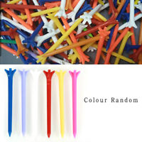 100 Pcs Pack Professional Frictionless Golf Tee Wheat Golf Tees Plastic  70mm ~Z