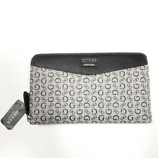 Guess Womens Wallet Black and Gray Clutch Glesson Organizer SV707954