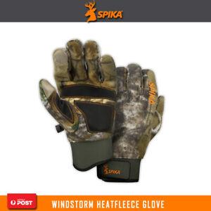 Spika Windstorm Hunting Heatfleece Gloves Water Resistant Neoprene Storm Guard