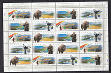 CANADA 1999 Scenic Highways Sheet of 20 MNH Face $9.20 Bison Whale