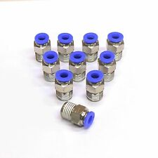 """10pc Push In to Connect One Touch Fittings 1/2""""OD -1/2"""" NPT MettleAir MTC1/2-N04"""