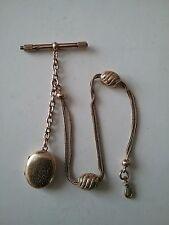 Chaine chatelaine de montre gousset plaqué or avec poinçons ( poids 24,6 grs )