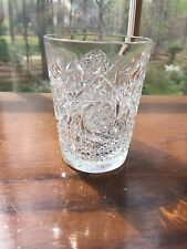 Quaker City American Brilliant Cut Glass Pinwheel Tumbler