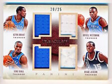 2013-14 Immaculate Kevin Durant Russell Westbrook Ibaka Jackson Quad Jersey /25