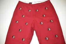 PENNINGTON BAILES STADIUM FLORIDA STATE FSU SEMINOLE HEAD RED PANTS MENS 38 X 29