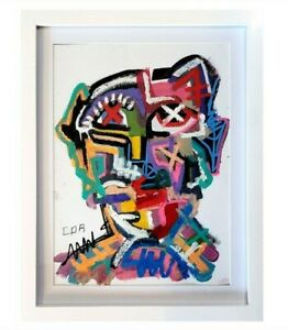 CONTEMPORARY FRAMED WALL ART CANVAS BASQUIAT NEW STYLE MODERNIST EXPRESSIONIST