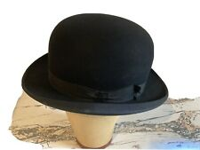 Vintage Stetson Black Bowler Derby The Stetsonian Sz 7 1/8 Men's Hat Baer Bros.