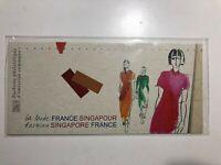 2013 Francia Singapore Congiunta Folder Libretto Booklet Pochette Fashion
