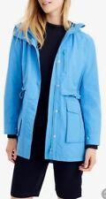 NWT J Crew Bright Blue Perfect Rain Jacket H8701 Sz Medium M