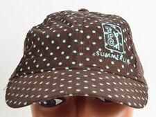 Ladies TPC Summerlin Golf Blue Brown Polka Dot Mesh hat cap baseball Adjustable