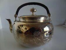 ASIAN ORIENTAL  CHINESE FINE SILVER TEA POT MARKED .9999