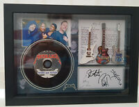 Metallica Nothing Else 3 Miniature Guitars and mini LP Shadow box signed photo