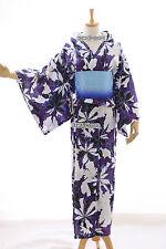 k-63 LILLA PORPORA FIORI ORIGINALE GIAPPONE donna kimono yukata Obi Cintura